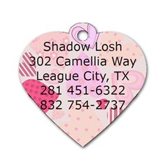 Shadow s Tag By Amy Losh   Dog Tag Heart (two Sides)   K9lzrhf1t33m   Www Artscow Com Back