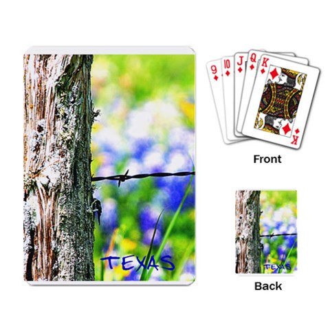 Fence2 By Paula Fulford   Playing Cards Single Design   3xdouavadpxi   Www Artscow Com Back