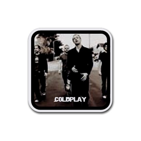 Coldplay Coasters By Shellie Meehan   Rubber Coaster (square)   X242d7ih4u6f   Www Artscow Com Front
