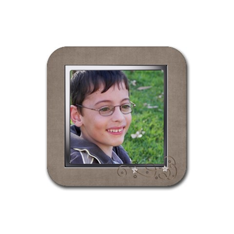 James Coaster By Fiona    Rubber Coaster (square)   Toz1rv61td0r   Www Artscow Com Front