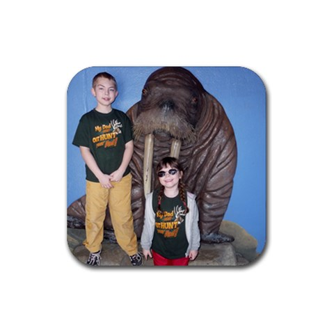 Indy Zoo By Smtilton Comcast Net   Rubber Coaster (square)   G7z2vfu1a6b0   Www Artscow Com Front