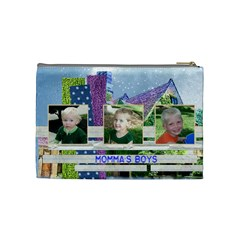 Momma s Boys Bag By Brookieadkins Yahoo Com   Cosmetic Bag (medium)   Id1hyzscqdim   Www Artscow Com Back