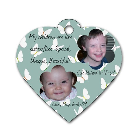 Kids Tag By Emily   Dog Tag Heart (one Side)   Dybjyx8iimne   Www Artscow Com Front