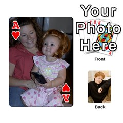 Ace Family Cards   Finished By Jennifer Littleton   Playing Cards 54 Designs   2nkybf0t0c1s   Www Artscow Com Front - HeartA