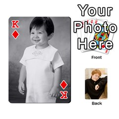 King Family Cards   Finished By Jennifer Littleton   Playing Cards 54 Designs   2nkybf0t0c1s   Www Artscow Com Front - DiamondK