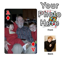 Ace Family Cards   Finished By Jennifer Littleton   Playing Cards 54 Designs   2nkybf0t0c1s   Www Artscow Com Front - DiamondA