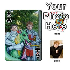 Ace Family Cards   Finished By Jennifer Littleton   Playing Cards 54 Designs   2nkybf0t0c1s   Www Artscow Com Front - ClubA