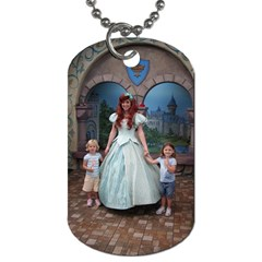 Addy & Phoenix At Disneyland By Charel Cooper   Dog Tag (two Sides)   Eemzlo35sqeq   Www Artscow Com Front