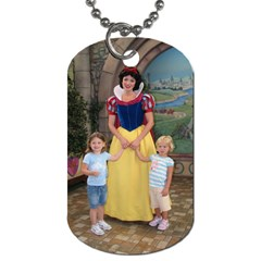 Addy & Phoenix At Disneyland By Charel Cooper   Dog Tag (two Sides)   Eemzlo35sqeq   Www Artscow Com Back