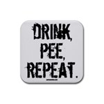 DRINK PEE REPEAT - Rubber Coaster (Square)