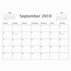 Calendar I Made For Us! By Holly   Wall Calendar 11  X 8 5  (12 Months)   33u7833dx11j   Www Artscow Com Sep 2010