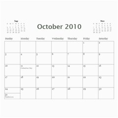 Calendar I Made For Us! By Holly   Wall Calendar 11  X 8 5  (12 Months)   33u7833dx11j   Www Artscow Com Oct 2010
