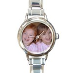 Anna and Gabi - Round Italian Charm Watch