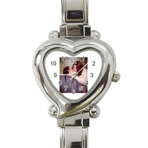 My Watch!!! By Clarisa Stewart   Heart Italian Charm Watch   E8scl36datm5   Www Artscow Com Front