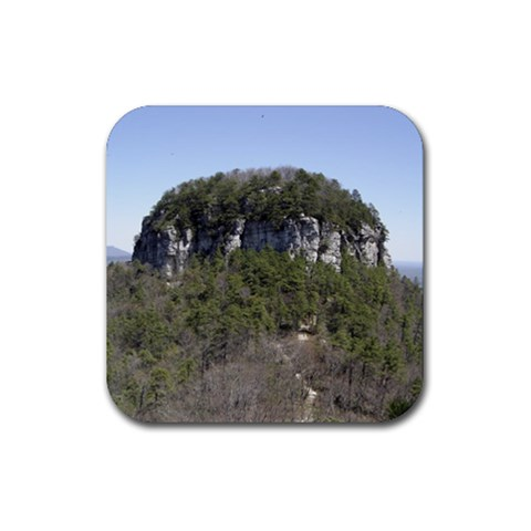 Pilot Mountain By Melissa   Rubber Coaster (square)   Muyr5blam15z   Www Artscow Com Front