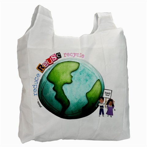 1sided Earth Bag By Lisa Goldman   Recycle Bag (one Side)   3lmqce2r56i3   Www Artscow Com Front