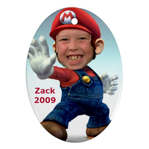 Zack Christmas Ornament By Kelly   Ornament (oval)   Mf6js124j0ca   Www Artscow Com Front