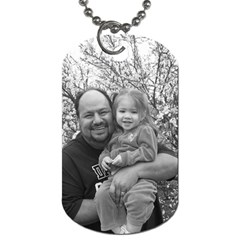Grandpa With Isabella! By Patricia Juarez1 Yahoo Com   Dog Tag (two Sides)   8xkyw58bol2z   Www Artscow Com Front