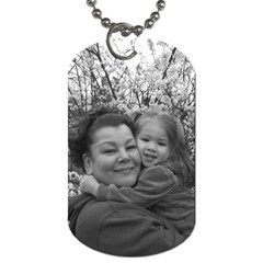 Grandpa With Isabella! By Patricia Juarez1 Yahoo Com   Dog Tag (two Sides)   8xkyw58bol2z   Www Artscow Com Back