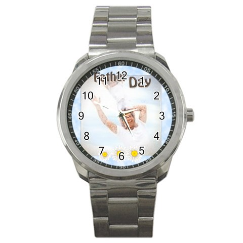 Father Day Gift By Joely   Sport Metal Watch   Qd0qch0nkv17   Www Artscow Com Front