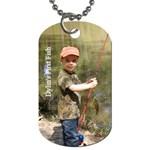 dylin first fish - dog tag - Dog Tag (One Side)