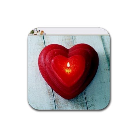 Heart By Biswaranjan   Rubber Coaster (square)   4lz010edms8t   Www Artscow Com Front