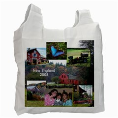 New England/huntingdon Bag By Terri   Recycle Bag (two Side)   Dt3mh9og4foz   Www Artscow Com Front