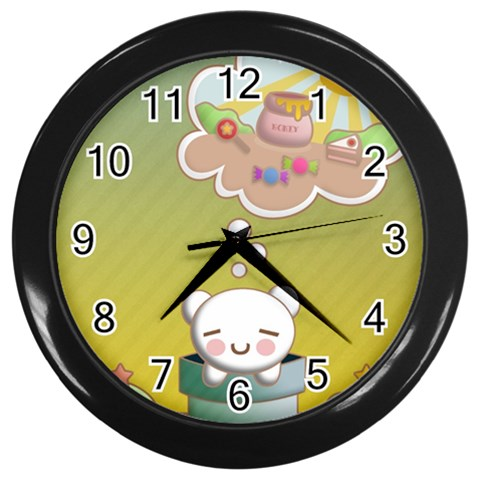 Think Sweet By Suman Mohanty   Wall Clock (black)   1m28rk96p2l4   Www Artscow Com Front