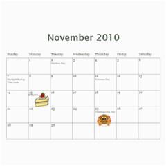 2010 Calendar By Kelly   Wall Calendar 11  X 8 5  (12 Months)   31la6yhth7fw   Www Artscow Com Nov 2010