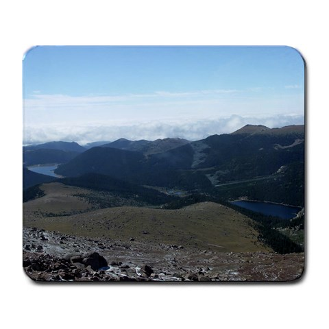 Pike s Peak, Colorado Springs, Co By Vicki Tucker   Large Mousepad   4xnnb4j3yj0i   Www Artscow Com Front
