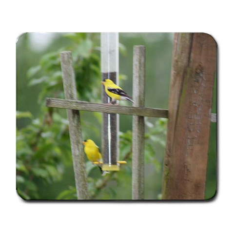 Finch Mousepad By Michele Sanders   Large Mousepad   V5g8i3e7ag43   Www Artscow Com Front