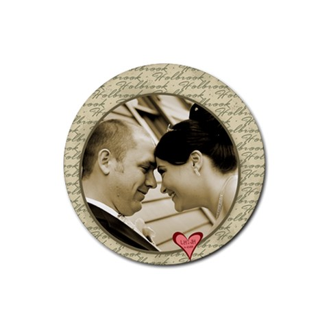 Wedding Day! By Jessica   Rubber Coaster (round)   Nhyf9dptfjcj   Www Artscow Com Front