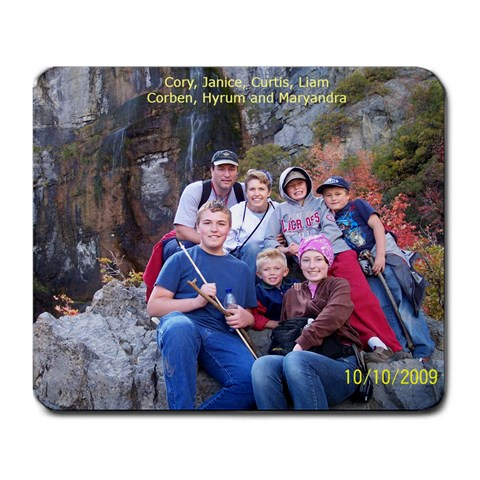 Miller Family Mousepad From October 2009 By Janice Miller   Large Mousepad   Dd2cpn8uxhpm   Www Artscow Com Front
