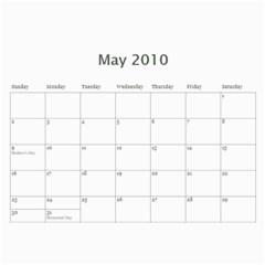 Calendar By Jessica   Wall Calendar 11  X 8 5  (12 Months)   4byx3l5jld9y   Www Artscow Com May 2010