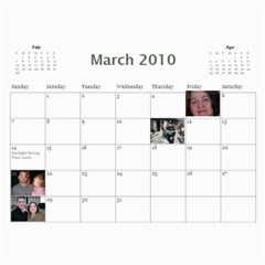 Gleason Calendar By Joy   Wall Calendar 11  X 8 5  (12 Months)   08y3kwo5z8vz   Www Artscow Com Mar 2010