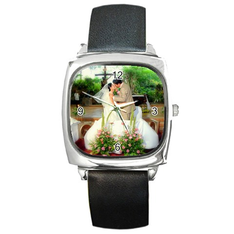 Love Watch ; ) By Melissa Solito   Square Metal Watch   0wnu3lkahd86   Www Artscow Com Front