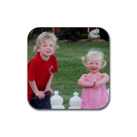Deston And Georgana Coaster By Christine   Rubber Coaster (square)   Kq46cex5c3ku   Www Artscow Com Front