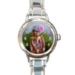 Sidney Watch - Round Italian Charm Watch