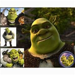 Shrek Tribute By Jessica   Collage 8  X 10    Ud1kzrzb0vnp   Www Artscow Com 10 x8 Print - 1