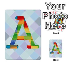 Abc Flash Cards By Crystal Rawl   Multi Purpose Cards (rectangle)   Eq132vxdo4je   Www Artscow Com Front 1