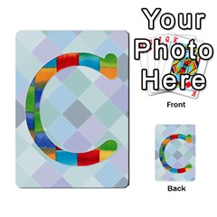 Abc Flash Cards By Crystal Rawl   Multi Purpose Cards (rectangle)   Eq132vxdo4je   Www Artscow Com Front 3