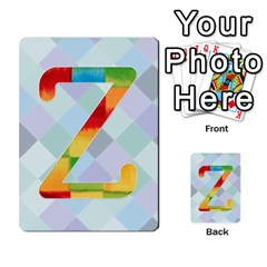 Abc Flash Cards By Crystal Rawl   Multi Purpose Cards (rectangle)   Eq132vxdo4je   Www Artscow Com Front 26