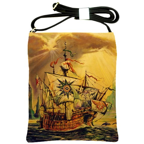 Pirate Ship Sling By Jessica   Shoulder Sling Bag   Z80v2s3l4wkz   Www Artscow Com Front