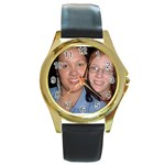 Marleana and Me - Round Gold Metal Watch
