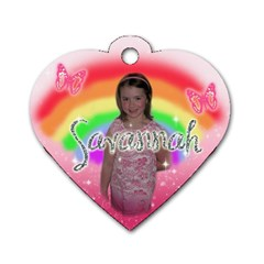 Backpack Id Dog Tag By Jessica Navarro   Dog Tag Heart (two Sides)   S4m6dwi451m3   Www Artscow Com Front