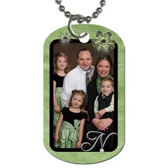 Family Luggage Tags By Jessica Navarro   Dog Tag (two Sides)   Kb4trk11qhob   Www Artscow Com Front