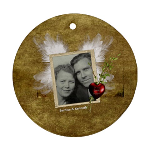 Memory Ornament By Anna Marie   Ornament (round)   Y5232o8p9ls7   Www Artscow Com Front