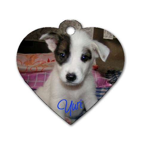 Yuri By Ryannec   Dog Tag Heart (one Side)   Nslb3h7zkuz2   Www Artscow Com Front