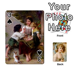 Dogs, Cats And Children By Helen Norton By Helen   Playing Cards 54 Designs   Jiv7hindenbs   Www Artscow Com Front - Spade3