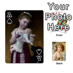 Ace Dogs, Cats And Children By Helen Norton By Helen   Playing Cards 54 Designs   Jiv7hindenbs   Www Artscow Com Front - SpadeA